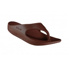 Telic Flip Flop Arch Supportive Recovery Sandal Unisex, Brown