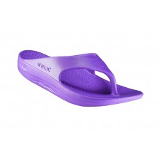 Telic Flip Flop Arch Supportive Recovery Sandal Unisex, Grape
