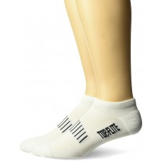 Top Flite Comfort No Show Socks, White, (L) W 9-12 / M 9-13, 2 Pair