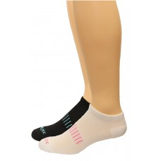 Top Flite Ladies No Show Socks, Black/White, (M) W 6-9 / M 4-9, 2 Pair