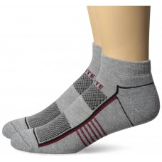 Top Flite Half Cushion Low Cut Socks, Heather Grey, (L) W 9-12 / M 9-13, 2 Pair