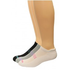 Top Flite Ladies Tab Socks, Wh/Gry/Blk, (M) W 6-9 / M 4-9, 3 Pair