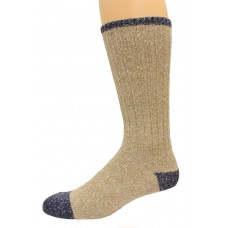 Wise Blend Men's Marl Boot Socks, 1 Pair, Khaki, Medium, Shoe Size M 9-13