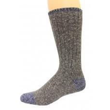 Wise Blend Men's Marl Boot Socks, 1 Pair, Grey, Medium, Shoe Size M 9-13