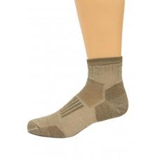 Wise Blend Men's Everyday Quarter Socks, 1 Pair, Khaki, Medium, Shoe Size M 9-13