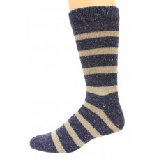 Wise Blend Men's Rugby Crew Socks, 1 Pair, Navy, Medium, Shoe Size M 9-13