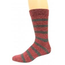 Wise Blend Men's Rugby Crew Socks, 1 Pair, Burgundy, Medium, Shoe Size M 9-13