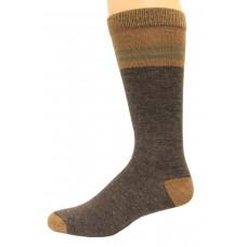 Wise Blend Men's Pinstripe Crew Socks, 1 Pair, Brown, Medium, Shoe Size M 9-13