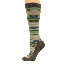 Wise Blend Angora Stripe Knee High Socks, 1 Pair, Brown, Medium, Shoe Size W 6-9