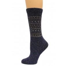 Wise Blend Retro Crew Heavyweight Socks, 1 Pair, Denim, Medium, Shoe Size W 6-9