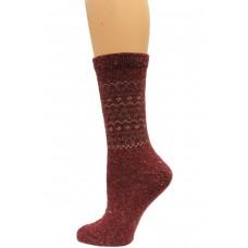 Wise Blend Retro Crew Heavyweight Socks, 1 Pair, Red, Medium, Shoe Size W 6-9