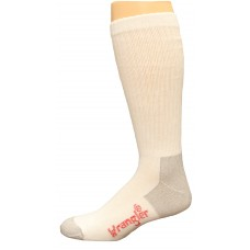 Riggs by Wrangler Ultra-Dri Boot Socks 2 Pair, White, M 8.5-10.5