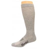 Wrangler Men's Western Boot Sock 1 Pair, Grey, M 6-8