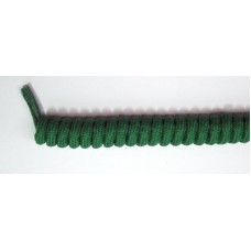 FootGalaxy Twister Curly Laces, Kelly Green