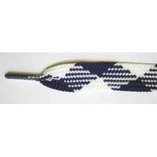 FootGalaxy High Quality Fat Laces For Boots And Shoes, Navy-White-Argyle