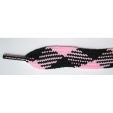 FootGalaxy High Quality Fat Laces For Boots And Shoes, Pink-Black-Argyle